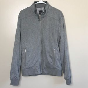 ZARA Man Grey Sweater/Jacket Zipper Front Size XL